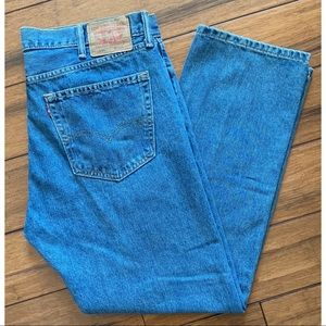 Levi's 505 Regular Straight 38/30 Blue Jeans Men's
